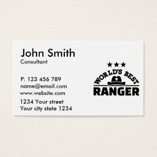 World's best ranger business card