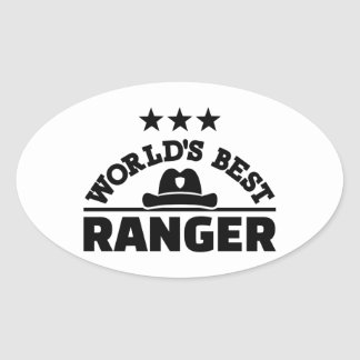 World's best ranger oval sticker