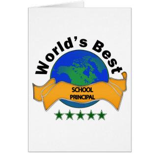 World s Best School Principal Cards