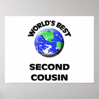 World s Best Second Cousin Print
