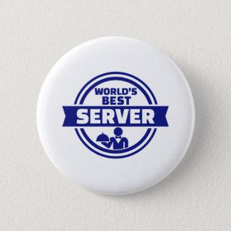 World's best server 2 inch round button