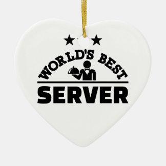 World's best server ceramic ornament