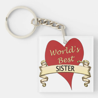 World s Best Sister Acrylic Key Chain