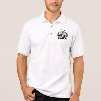 World's best soccer coach polo shirt