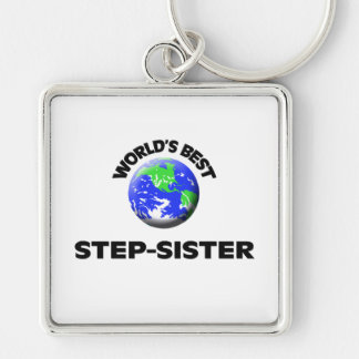 World s Best Step-Sister Keychain