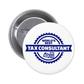 World's best tax consultant 2 inch round button