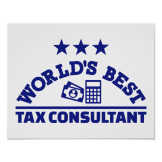 World's best tax consultant poster