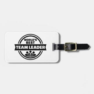 World's best team leader bag tag