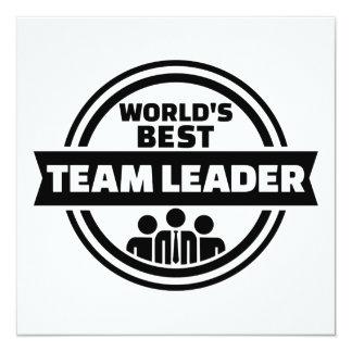 World's best team leader card