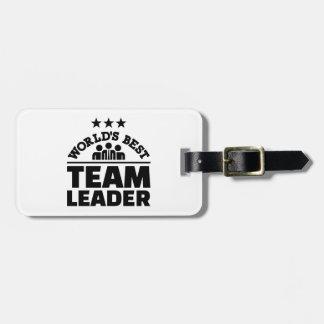 World's best team leader luggage tag