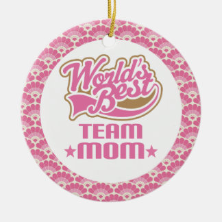 World's Best Team Mom Gift Ornament