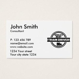 World's best train driver business card