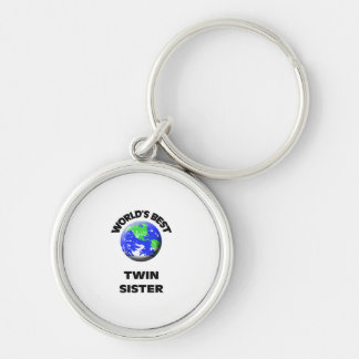 World s Best Twin Sister Key Chain