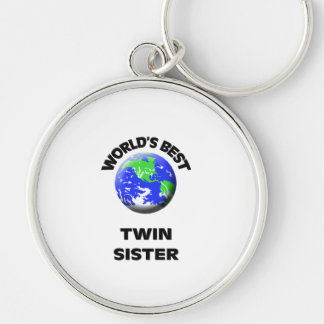 World s Best Twin Sister Keychains