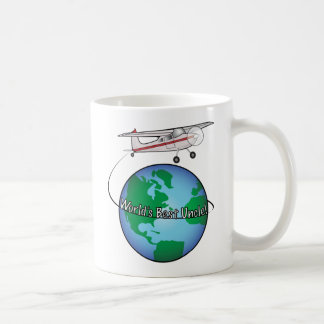 World s Best Uncle with Airplane Coffee Mug