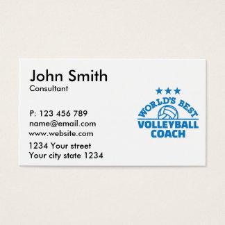 World's best volleyball coach business card