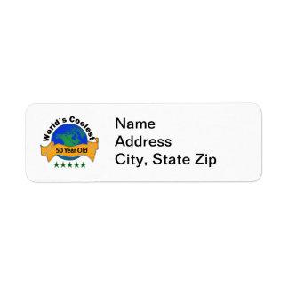 World s Coolest 50 Year Old Custom Return Address Labels