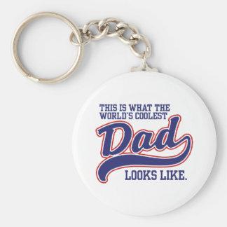 World s Coolest Dad Key Chain
