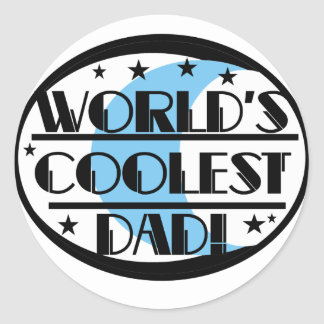 World s Coolest Dad Tshirts and Gifts Sticker