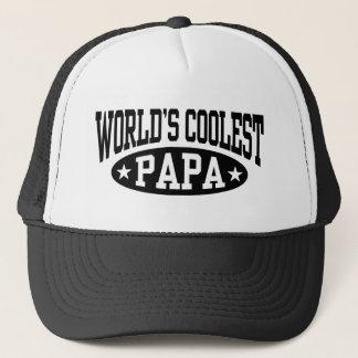 World's Coolest Papa Trucker Hat