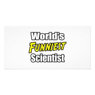 World s Funniest Scientist Photo Card