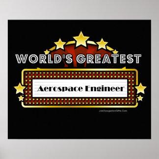 World s Greatest Aerospace Engineer Poster