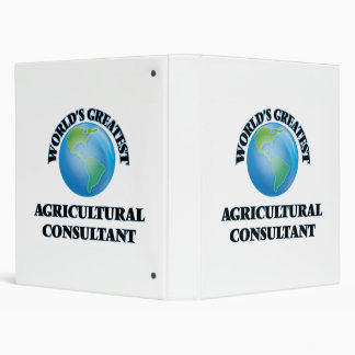 World s Greatest Agricultural Consultant 3 Ring Binder
