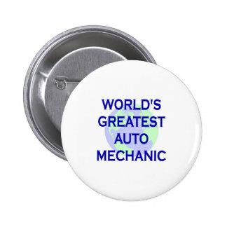 World s Greatest Auto Mechanic Pinback Button