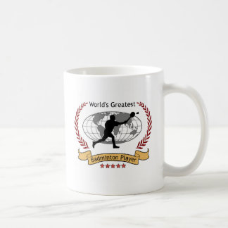 World s Greatest Badminton Player Men Coffee Mug