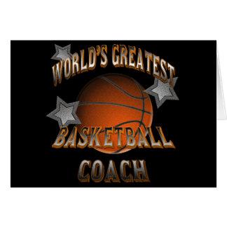 World s Greatest Basketball Coach Card
