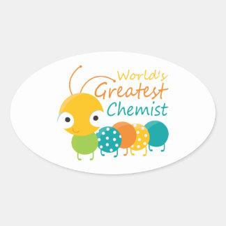 World s Greatest Chemist Oval Stickers