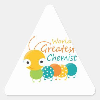 World s Greatest Chemist Triangle Stickers