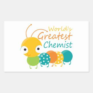 World s Greatest Chemist Rectangle Stickers