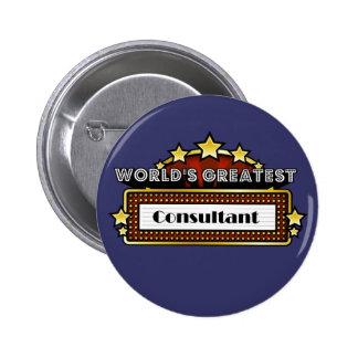 World s Greatest Consultant Pinback Button