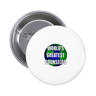World s Greatest Counselor Pinback Button