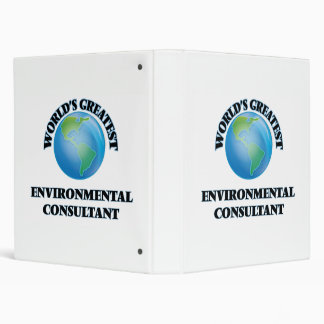 World s Greatest Environmental Consultant Binder