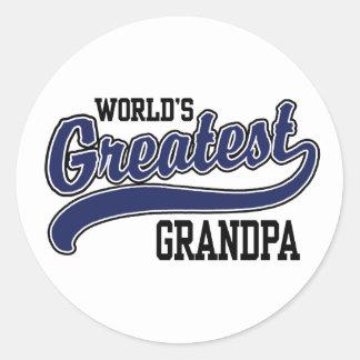 World s Greatest Grandpa Round Stickers