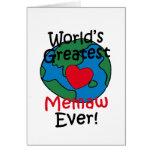 World's Greatest Memaw Heart Greeting Card