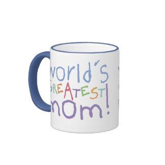 World s Greatest Mom Ringer Large Mug