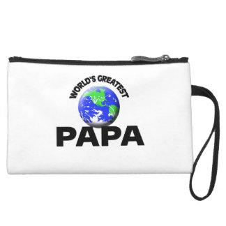 World s Greatest Papa Wristlet Purse