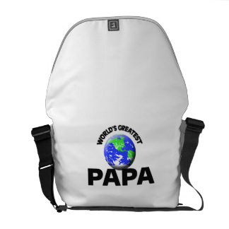World s Greatest Papa Courier Bag