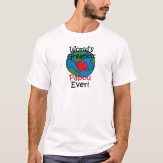 World's Greatest Papou Heart T-Shirt
