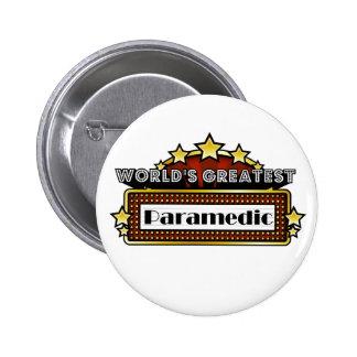 World s Greatest Paramedic Pinback Button