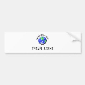 World s Greatest Travel Agent Bumper Sticker