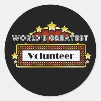 World s Greatest Volunteer Round Sticker