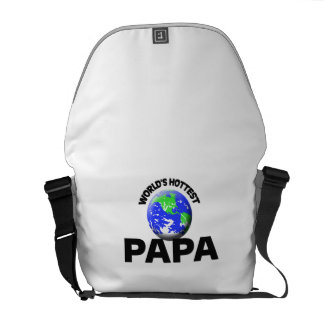 World s Hottest Papa Courier Bag