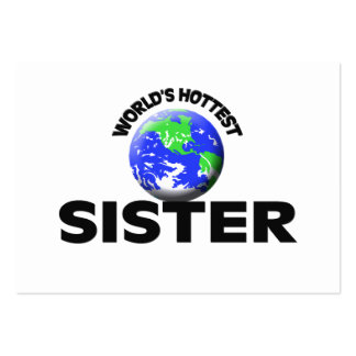 World s Hottest Sister Business Card Template