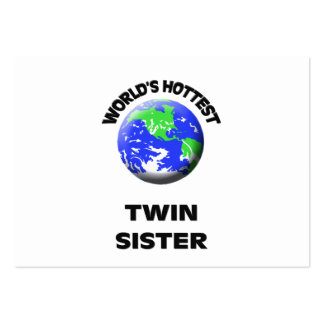 World s Hottest Twin Sister Business Card Template