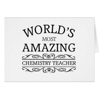 World s most amazing chemistry teacher greeting card