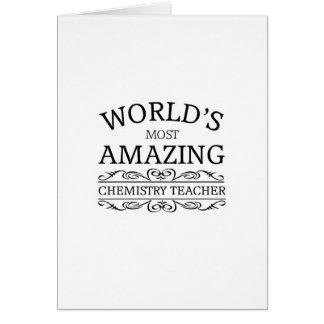 World s most amazing Chemistry Teacher Card